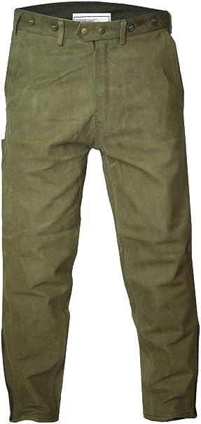 German Wear Pantalones Largos de Piel Traje t/ípico de Caza Cazador Pantalones Pantalones de Caza Caza Verde//marr/ón Claro