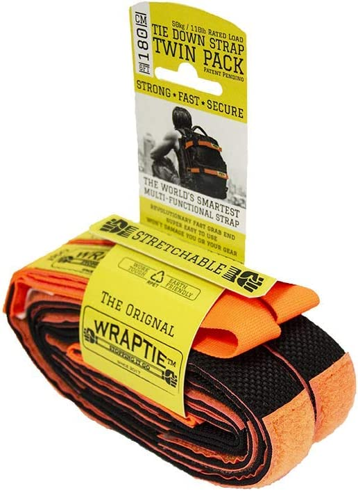 Set of Two WRAPTIE Quick Tie Down Straps 8 ft