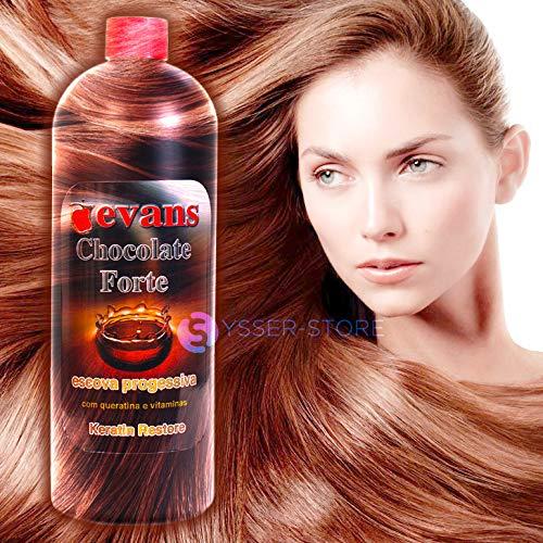 Amazon.com : evans BRAZILIAN KERATIN Treatment CHOCOLATE Restore w/Vitaminas 1 Litre Brazil : Beauty