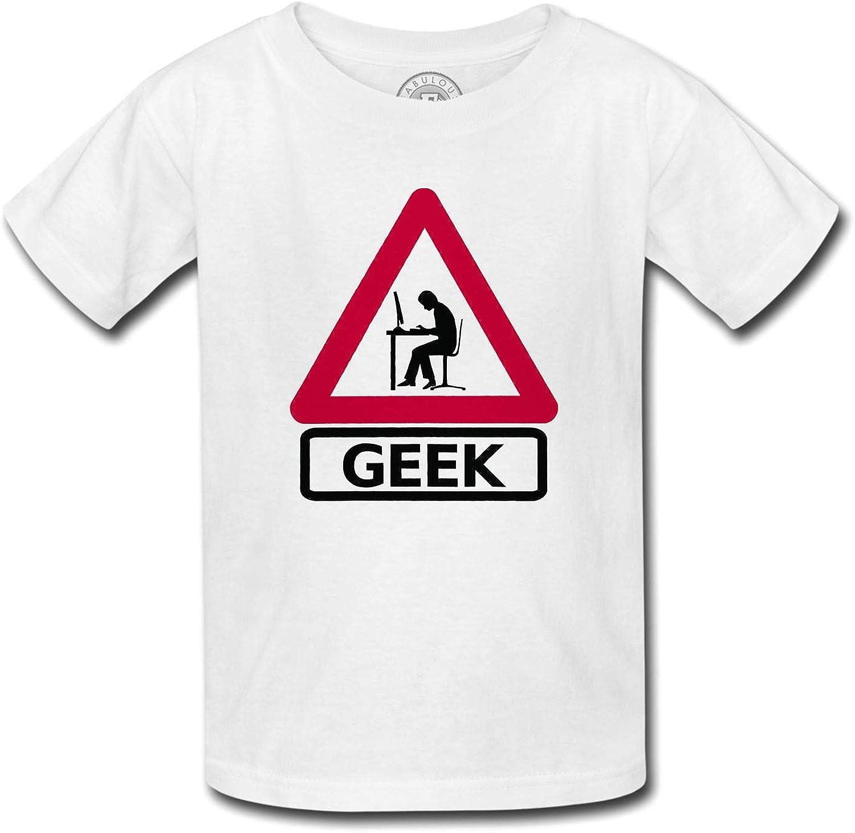 Fabulous Camiseta para Niños Señal de Peligro del Friki: Amazon.es: Ropa y accesorios