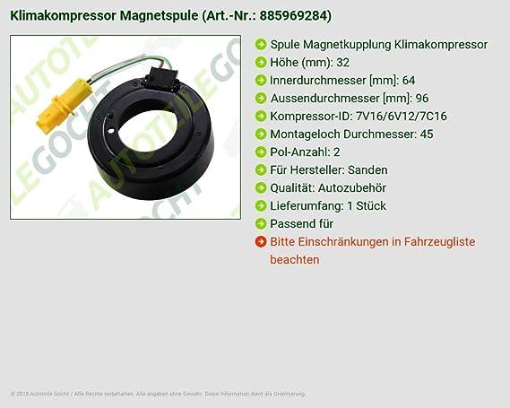 Bobina acoplamiento magnético climática Compresor B-Ware: Amazon.es: Coche y moto