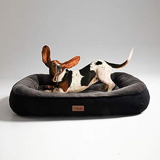Bedsure Cama para Perros Grandes L - Colchon Perro Lavable de Felpa Muy Suave - Sofá de Perro 92x69x18cm,Negro: Amazon.es: Productos para mascotas