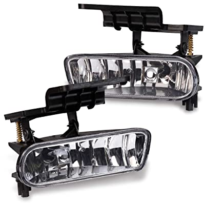 Fog Lights Bumper Lamps For 1999-2002 Chevy Silverado 1500 2500 For 00-06 Chevy Tahoe Suburban: Automotive