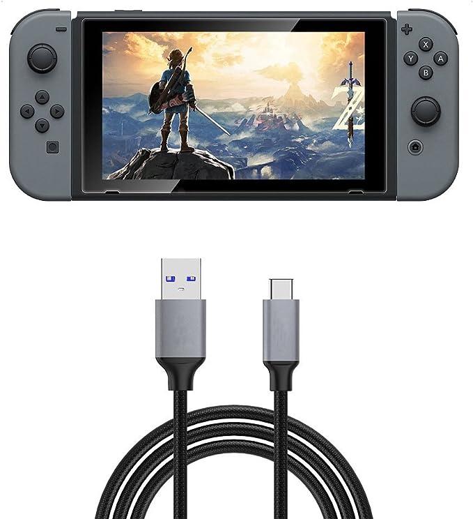 FunMax - Cable de Carga rápida USB 3.0 para Nintendo Switch, Cargador Tipo C (3.3 pies): Amazon.es: Electrónica