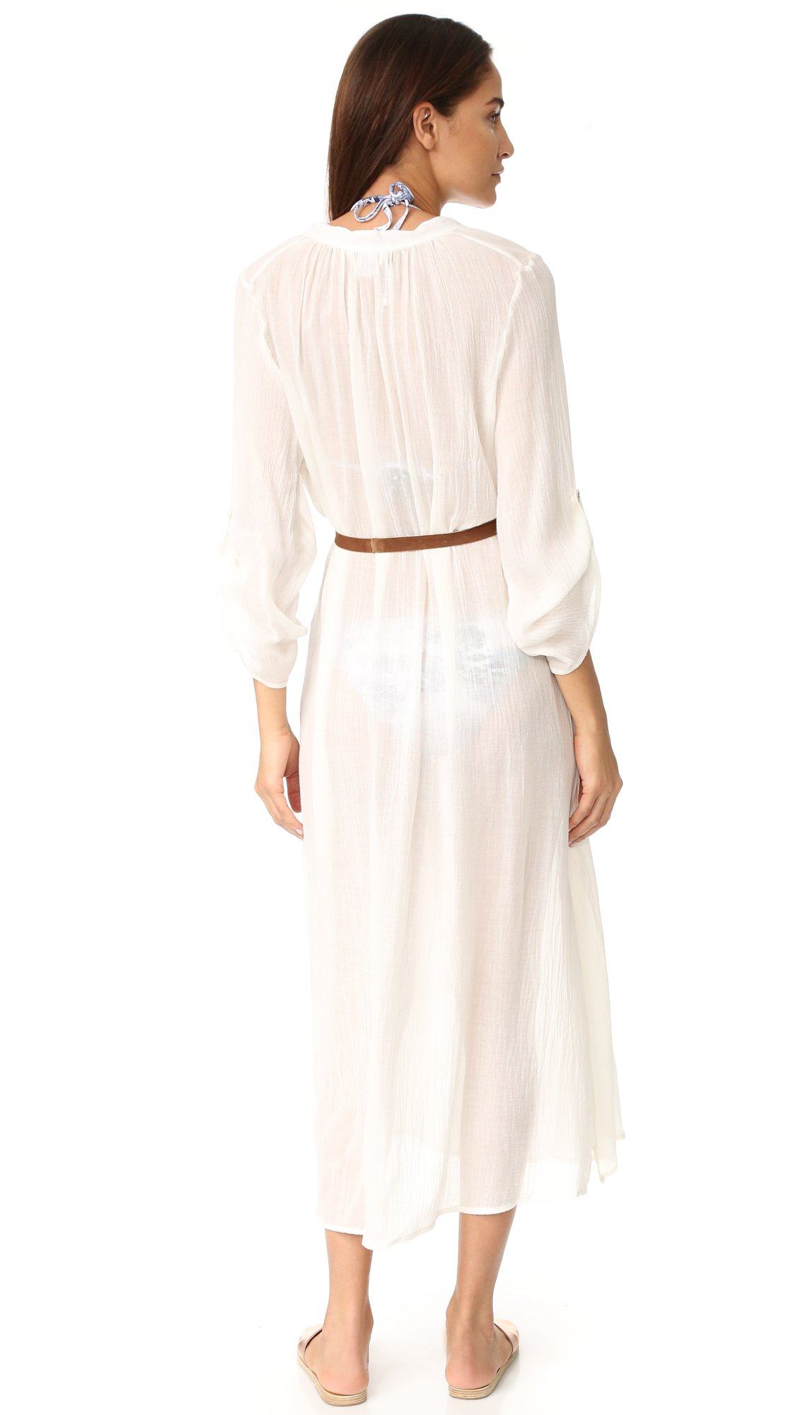 Eberjey Women's Summer Of Love Haven Cover Up Dress, Cloud, S/M by Eberjey (Image #2)