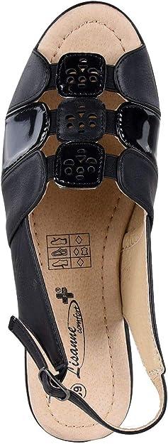 HSM Schuhmarketing Lisanne Comfort Chaussures confortables pour femme Noir