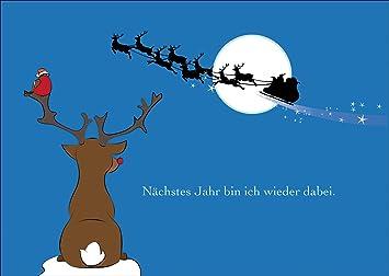 Bilder Weihnachten Lustig.Lustige Schöne Weihnachtskarte Mit Umschlag Geschenkkarte Zu