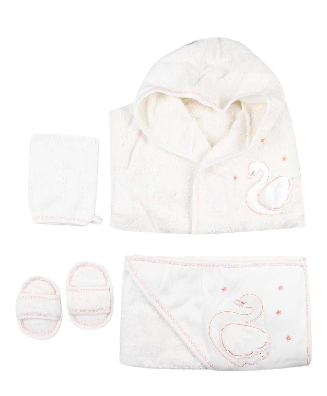 Ensemble bain peignoir, serviette, gant et chaussons - bébé