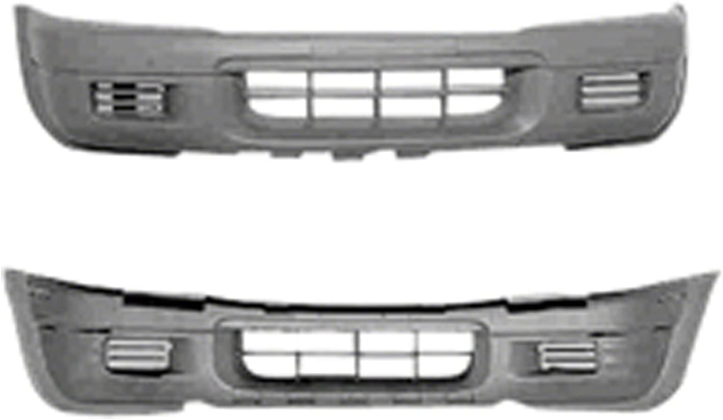 Front Bumper Cover For 1998-1999 Isuzu Rodeo Textured Plastic
