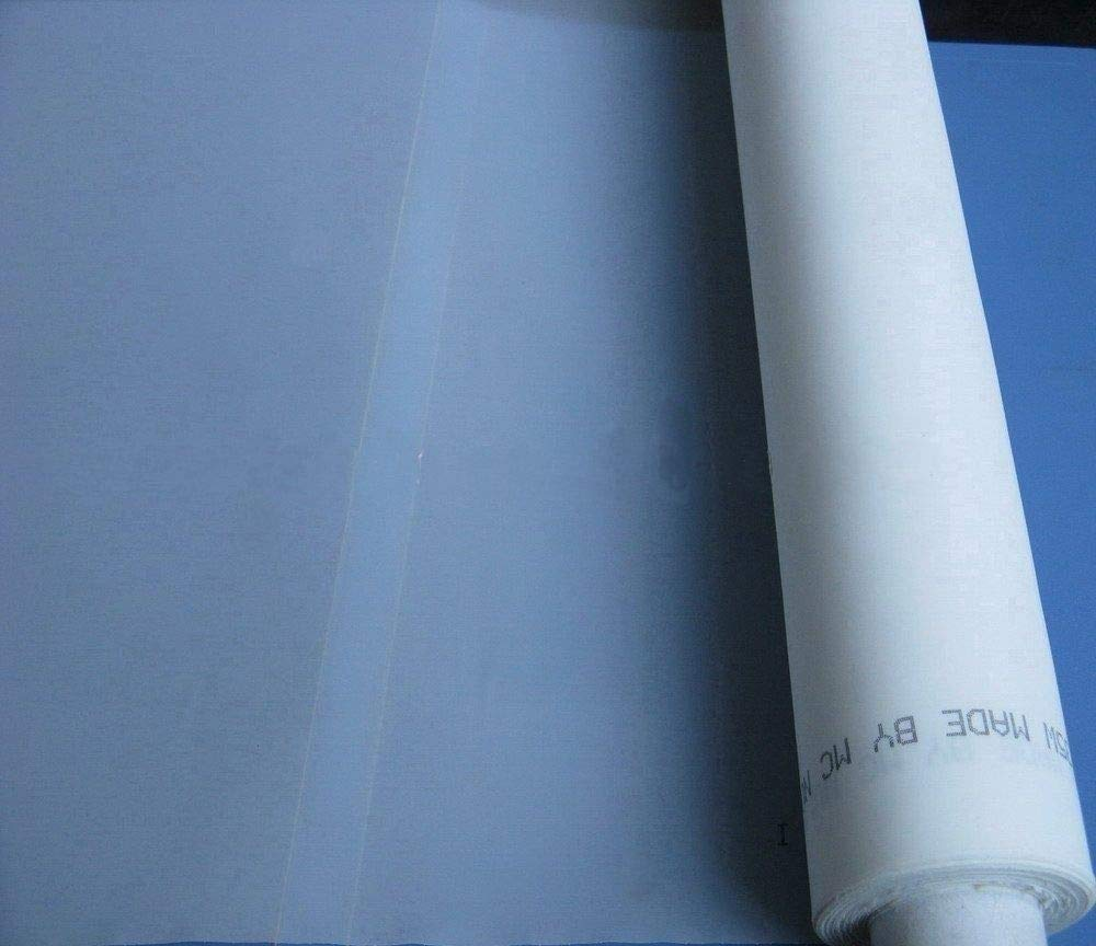 INTBUYING 3 Yards 110 Mesh 50Inches(1.27m) Width Silk Screen Printing 3 Yards 110 mesh(43T)