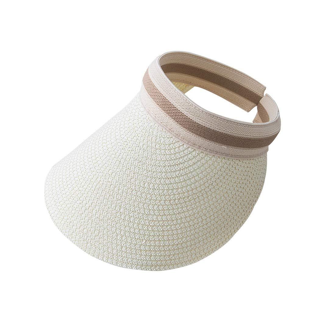 Cappello Donna Protezione Solare da Sole Protezione UV Leggero Materiale Treccia Cappello di Paglia Cappello Pieghevole Color : B03