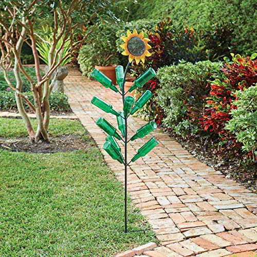 - BrylaneHome Glass Bottle Sunflower - Sunflower