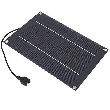 Alomejor Cargador de Panel Solar 6W 6V Teléfono con Puertos USB Portátil Panel Solar Plegable a Prueba de Agua para teléfonos Inteligentes Tabletas ...
