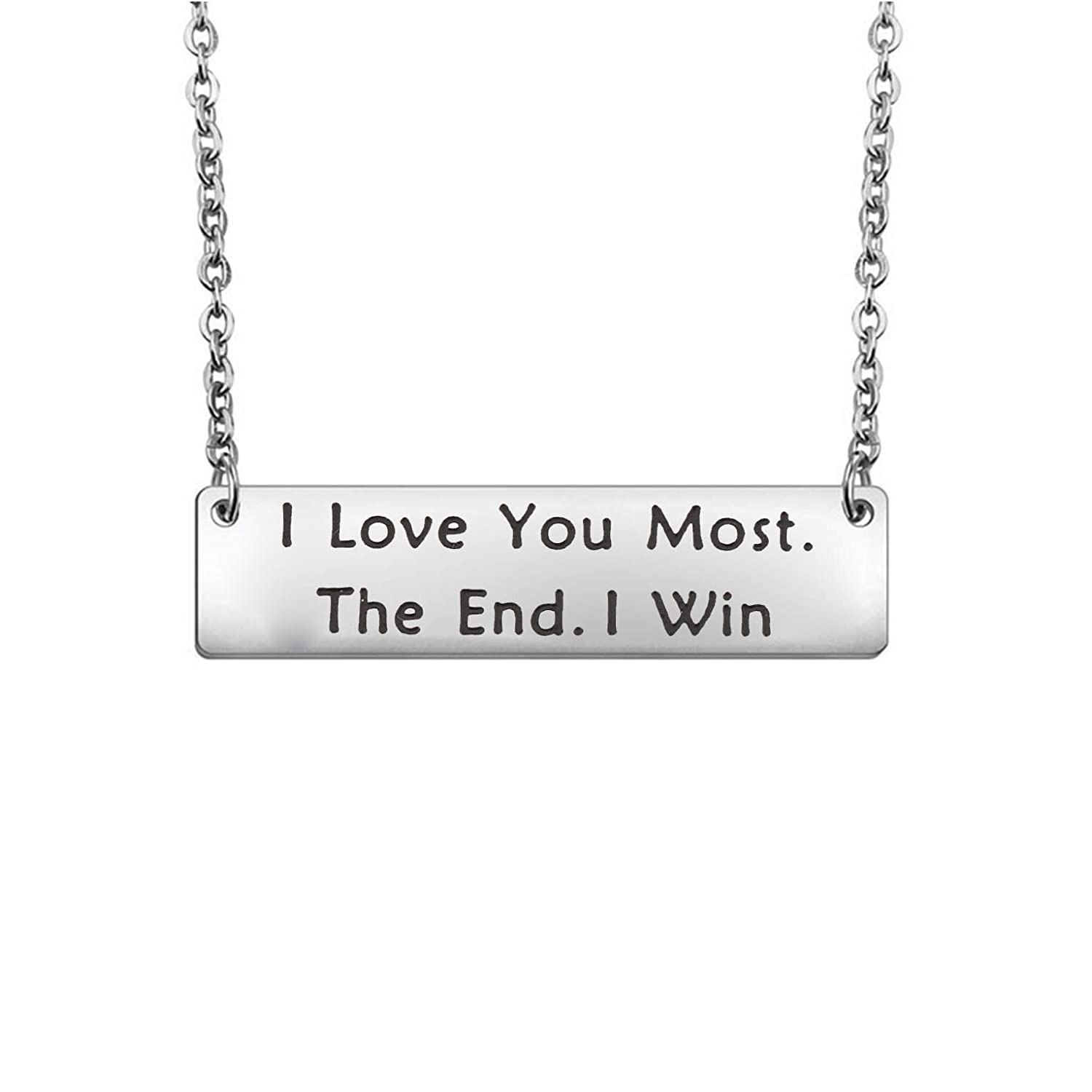 QIIER I Love You Most The End I Win Bracelet Expandable Wire Bangle with Infinity Love Heart Charm Valentines Day Girlfriend