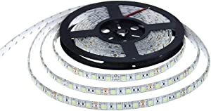FAMKIT 16. 4ft/ 5m 300LED Strip Light Waterproof DC 12V 70W 5050 SMD LED Light Strip for Party Home Decor for Boats, Bathroom, Mirror, Ceiling and Outdoor ( Reel Color Random )