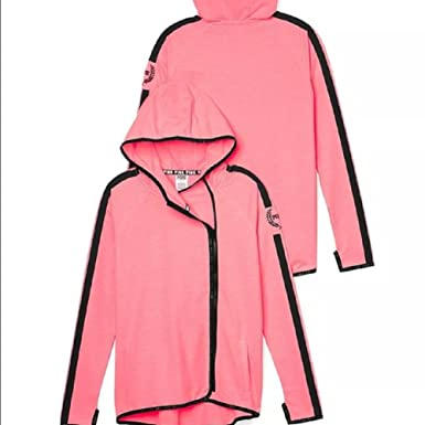 788b08a6cd69 Victoria s Secret Pink High Low Hoodie Coral Pink at Amazon Women s ...