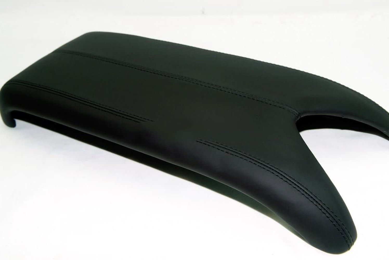 Black Leather Suture Console Lid Armrest Cover for Acura Armrest Cover(Only The Leather Part not include Lid) Ezzy Auto