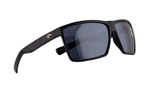 75a7129fee8 Image Unavailable. Image not available for. Color  Costa Del Mar Rincon  Sunglasses Shiny Black w Polarized Plastic Grey Silver Mirror 580P Lens