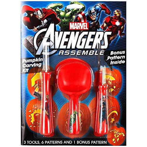 Gemmy Marvel Avengers Assemble Pumpkin Carving Kit]()