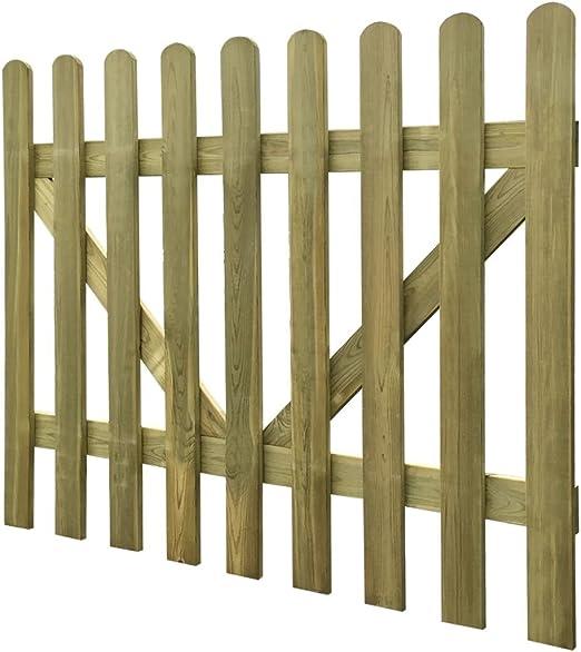 Tidyard 2xPuerta para Jardín,Puerta de Madera,Puerta para Valla para Jardín Patio o Terraza,Madera de Pino Impregnada,Cada Uno 150x120cm: Amazon.es: Hogar
