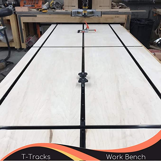 New T Tracks 36 Inch with Intersection Kit for Woodworking By CLEAR STYLE