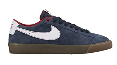 e1c130c9a2c8a NIKE Blazer Low GT Mens Skateboarding-Shoes 704939-402 10 -  Obsidian University Red