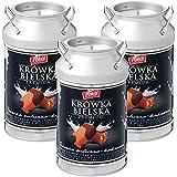 ポーランド 土産 クルフカ ミルク&ココアキャラメル 3缶セット (海外旅行 ポーランド お土産)