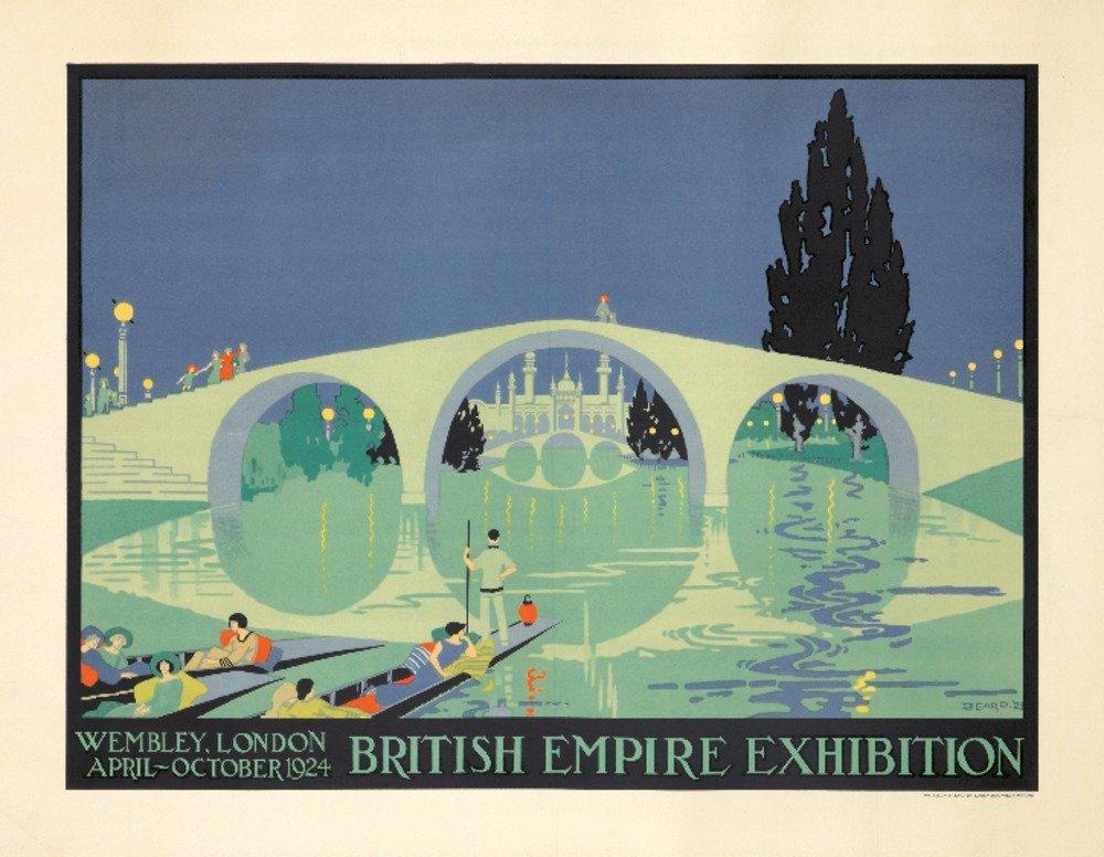 British Empire Exhibitionヴィンテージポスター(アーティスト: Beard ) UK C。1924 16 x 24 Giclee Print LANT-73918-16x24 B01DUNNGNG  16 x 24 Giclee Print