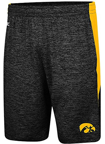 (Iowa Hawkeyes Mens Heather Black Fundamentals Polyester Shorts (L=35/38) )