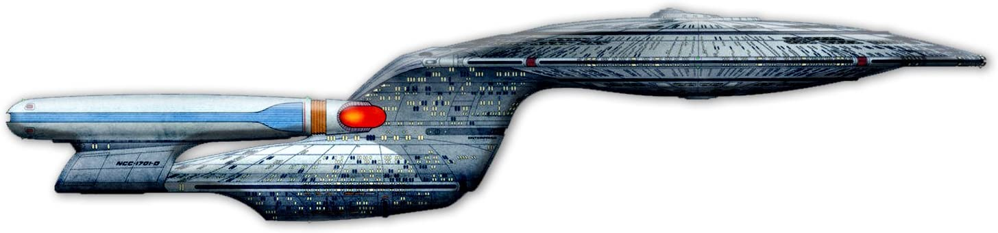 Bargain Max Decals Enterprise Inspired NCC-1701D Ship Window Laptop Car Sticker 8""