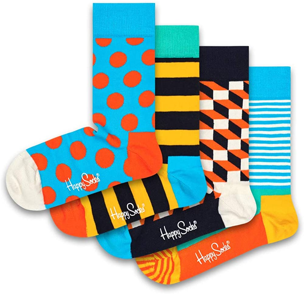 Happy Socks - Calcetines de algodón para hombre y mujer: Amazon.es: Ropa y accesorios