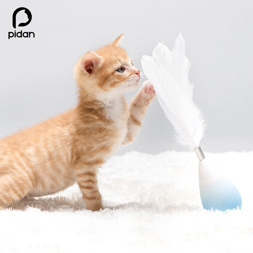 Pidan Studio Rain Drop Roly-Poly Feather Teaser Cat Toy With Bell (Newest Version) - Entertain Your Cat While You're Away