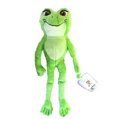 "Disney Princess Exclusive Princess and the Frog 12"" Plush Toy - Princess Tiana as Frog: Toys & Games"