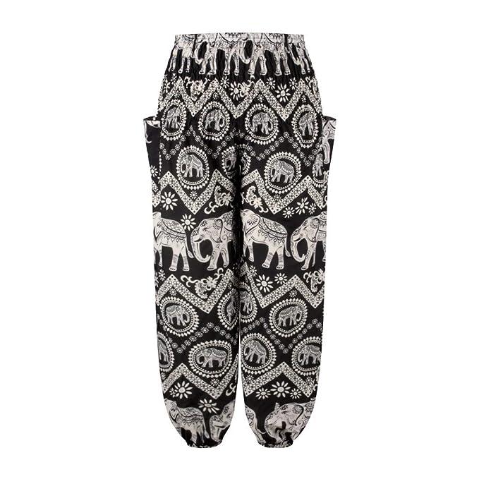 LANSKIRT Pantalones Anchos para Hombres Pantalón de Yoga ...