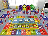 """KC CUBS Playtime Collection ABC Alphabet, Seasons, Months and Days of the Week Educational Learning Area Rug Carpet For Kids and Children Bedrooms and Playroom (5 0"""" x 6 6"""")"""