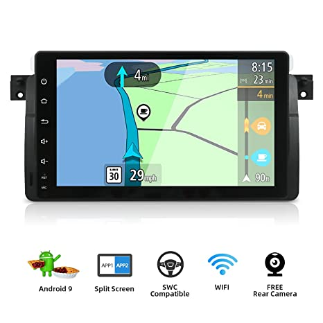 """9/"""" Android 8.1 Car Stereo GPS DAB+Radio TV fit BMW E46 3er M3 Rover75 MG ZT DAB+"""