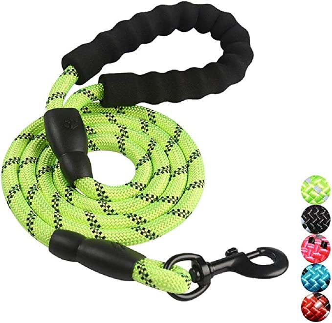 with Comfortable Padded Handle and Highly Reflective Threads Chirano 5FT Strong Dog Leash for Medium and Large Dogs Walking Running or Trainning