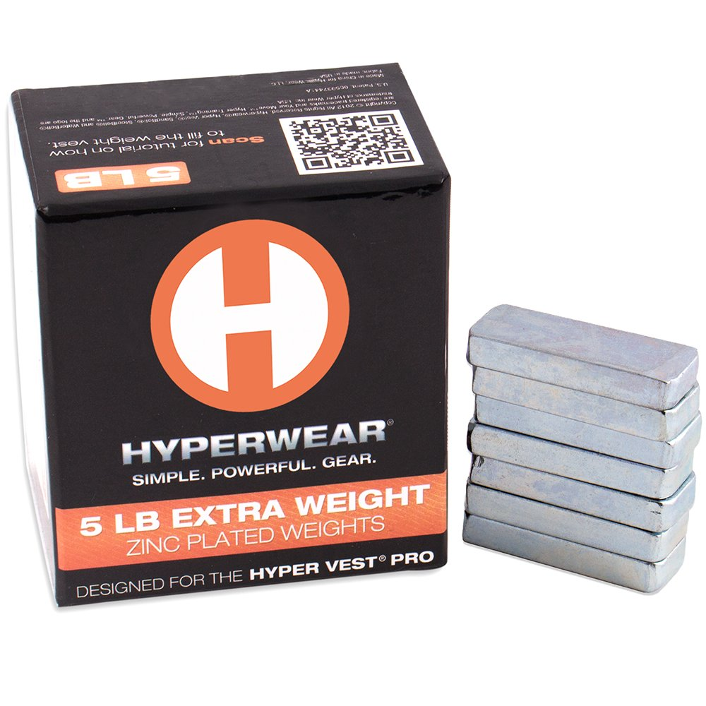 Hyperwear Booster Pack for Hyper Vest PRO Weighted Vests - Set of 35 Extra Weights (5lbs Total) by Hyperwear