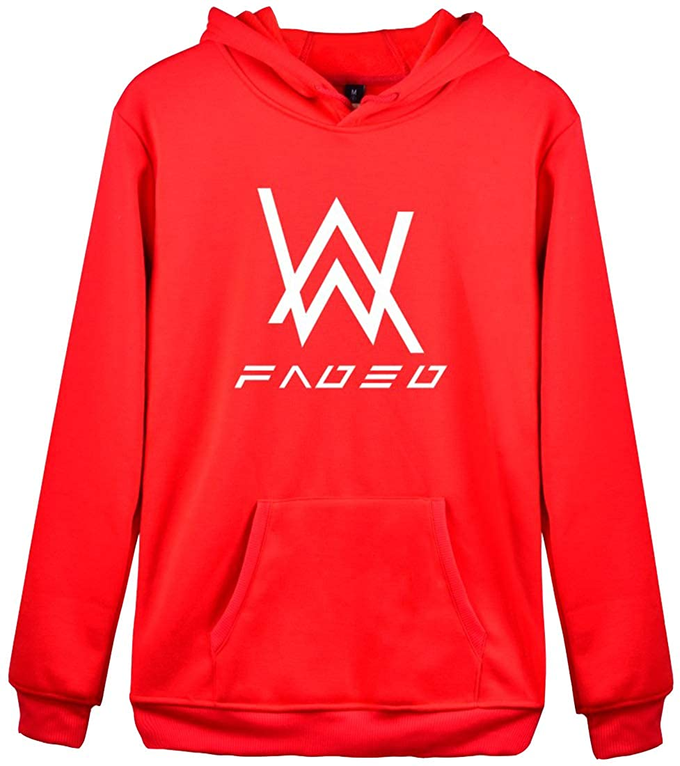 Bettydom Unisex Hoodies with Alan Walker Sweatshirt with Alan Walker Faded Hoodie Long Sleeve Pullover at Amazon Mens Clothing store: