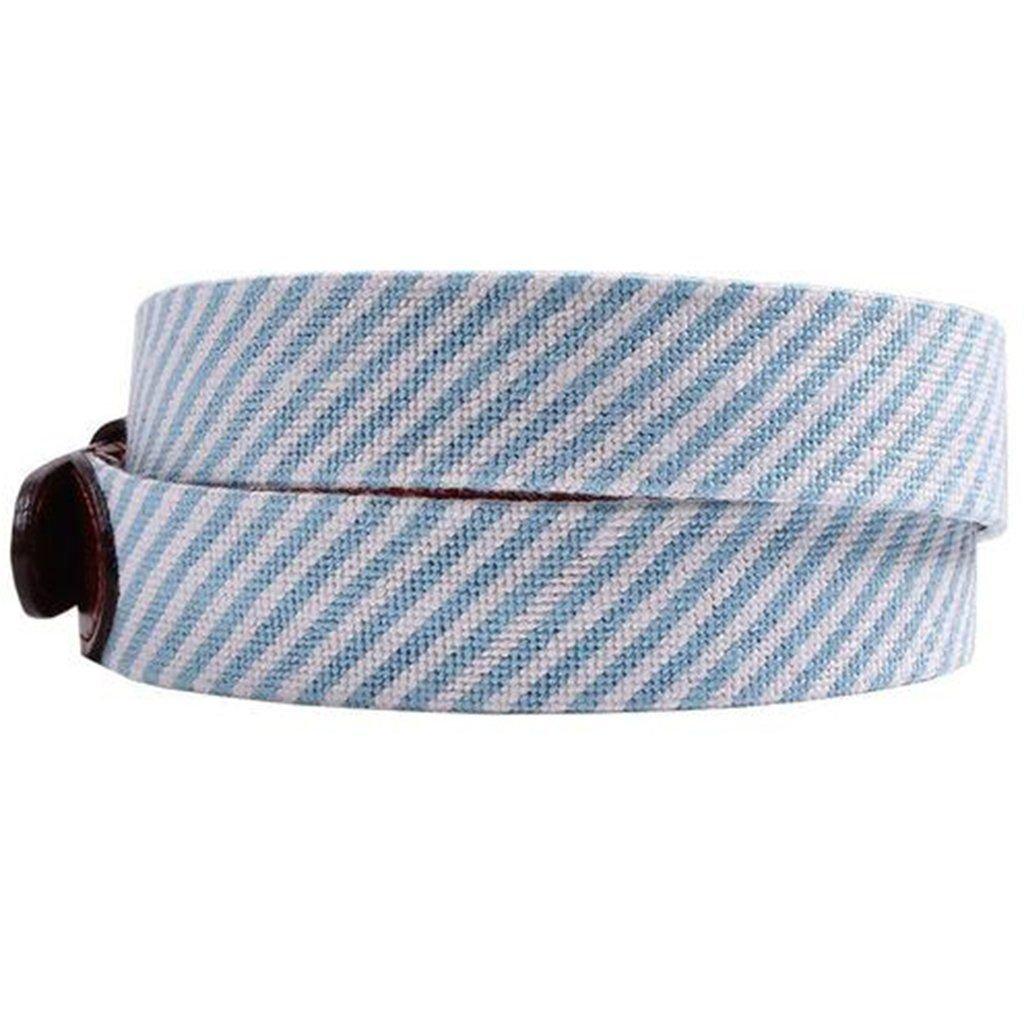 Blue Seersucker Needlepoint Belt by Smathers /& Branson