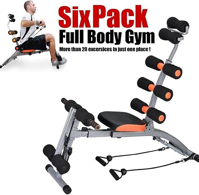 Bakaji Six Pack Care - Banco de abdominales completo, con extensores: Amazon.es: Deportes y aire libre