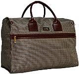 Nicole Miller New York Luggage Taylor Box Bag (Brown Plaid)