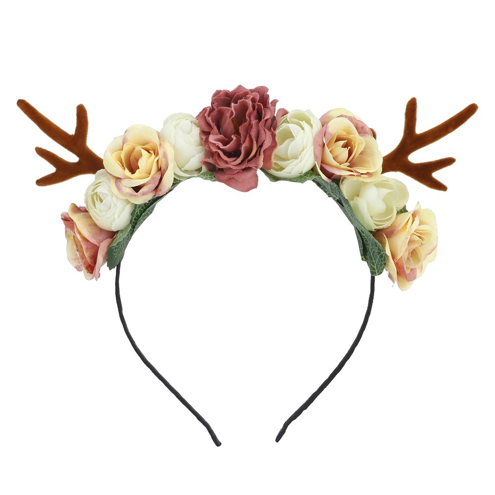 Girl Deer Antlers Headbands Adult Kid DIY Christmas Hair Band Cosplay Costume Lovemyangel