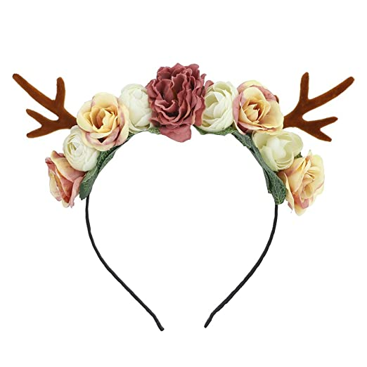 Amazon.com  Lovemyangel Girl Deer Antlers Headbands Adult Kid DIY Christmas  Hair Band Cosplay Costume (Small Antlers)  Beauty 3e96a53f295