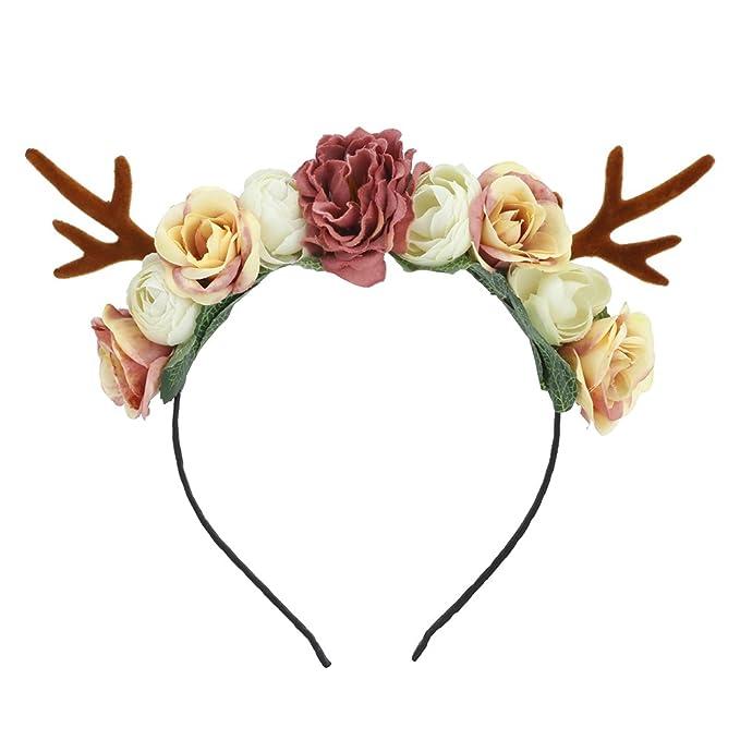 Christmas Headband For Adults.Lovemyangel Girl Deer Antlers Headbands Adult Kid Diy Christmas Hair Band Cosplay Costume