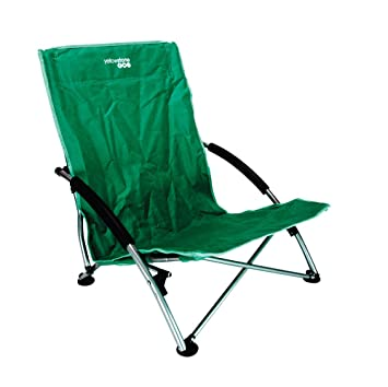 low profile camping fishing chair green colour only amazon co uk
