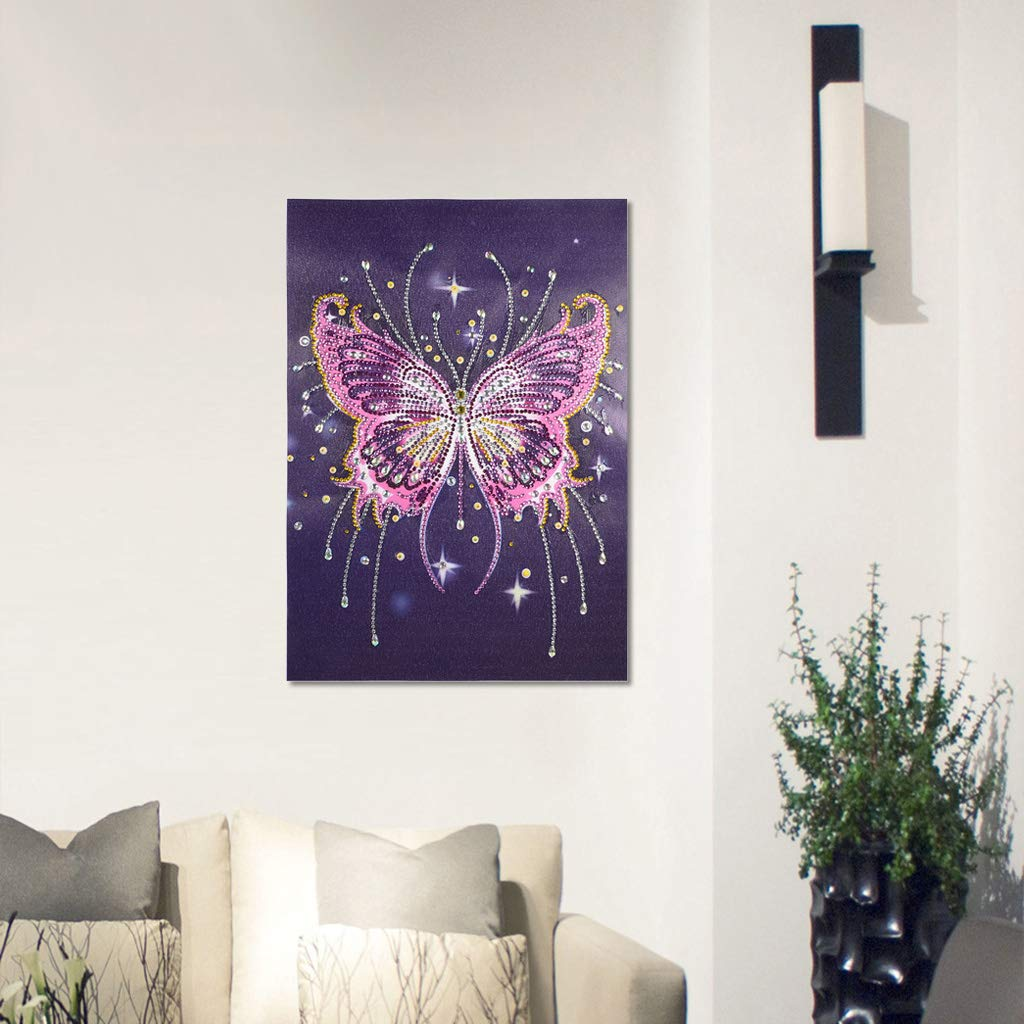 DCIDBEI DIY Diamond Painting Kit Crystal Diamond,Painting Diamonds Full Drill 5D DIY Diamond Rhinestone Embroidery Cross Stitch Kits Supply Arts Craft Canvas Wall Decor Stickers Home Decor 30x40 cm