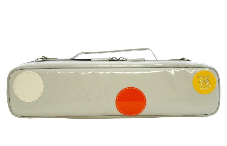 NAHOK(ナホック) H管 フルートケースガード 「Amadeus/wf」 クリーム/オレンジカスタードホワイト 特別限定 Bubble-Dots  Catherine  【ドイツ製完全防水生地×特殊温度調整機能&衝撃吸収素材+止水ファスナー】 Fabric from Germany, Made in Japan B00QQ13DH4 ライトグレー / ホワイトオレンジイエローラウンドエンブレム  ライトグレー / ホワイトオレンジイエローラウンドエンブレム
