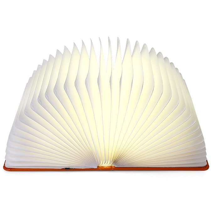 iLifeSmart Lightweight Foldable Color Changing Rechargeable LED Book Lamp Decorative Lamp Bedside Lamp Bed Reading Light Table Lamp(Yellow)