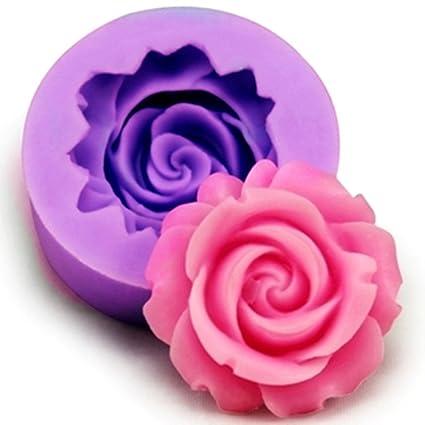 Pink Longzang Flower Silicone Fondant Mini Sugar Craft Mold Small